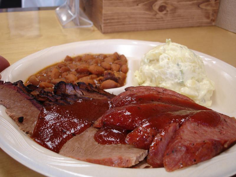 Boerne TX BBQ Plate